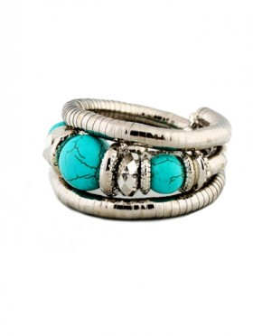 Wrap Bead Silver Bracelet