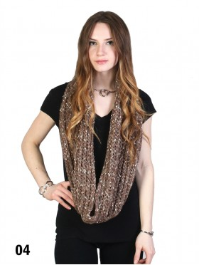 Two Tone Knitted Loop Scarf