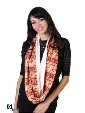 TWO TONE WITH MOOSE PRINT SCARF