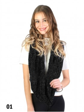 Super Soft Chenille Feeling Ribbed Loop Scarf