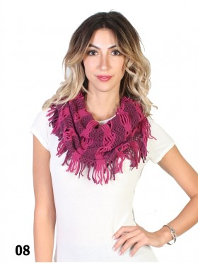TWO TONE WIDE KNIT LOOP FRINGE