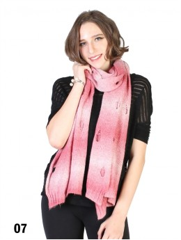 TIE-DYE, KNITTED SCARF