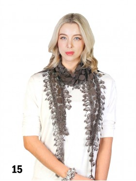 SCARF, SUNFLOWER LACE