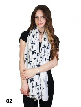 Stitched Orchid Fashion Scarf