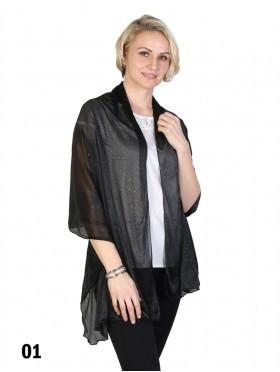 Plain Sparkle Viscose Fashion Scarf
