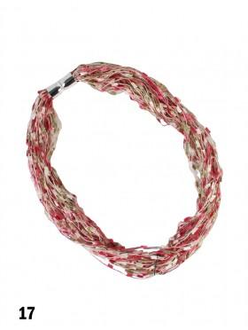 Magnetic Scarf Necklace W/ Confetti Popcorn
