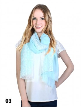Premium Solid Fashion Scarf W/ Lace
