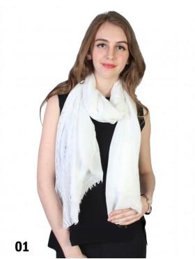 Premium Solid Fashion Scarf W/ Lace