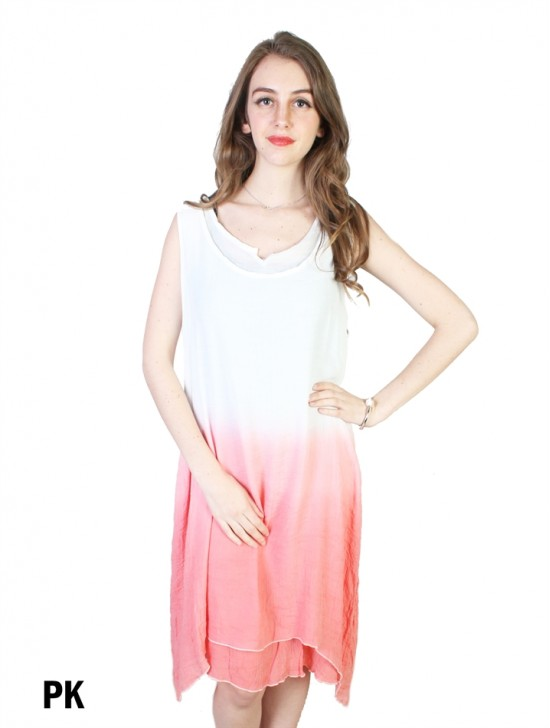 Layered Ombre Shift Dress