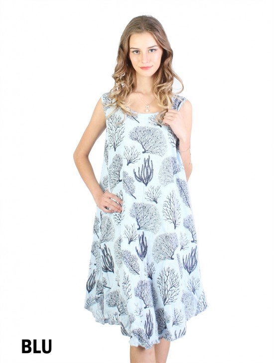 Fashion Dress With Forest Printed
