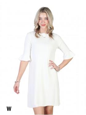 Classic Black Wrap Dress 3/4 Sleeve