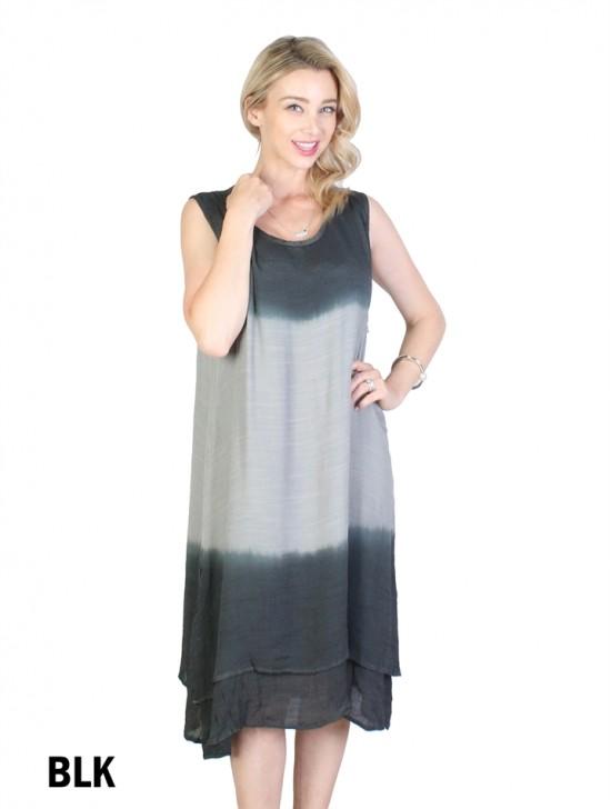 Two Tone Dye Dress