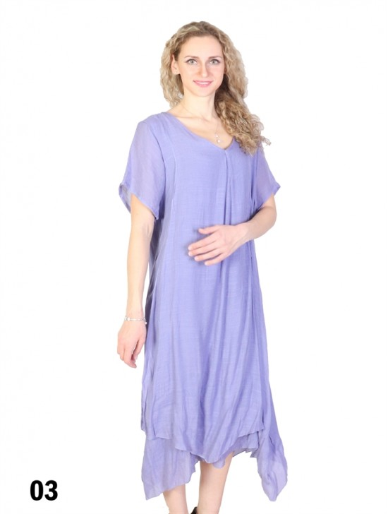 Solid Short Sleeved Shift Dress