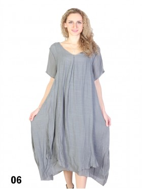 Solid Short Sleeved Shift Dress