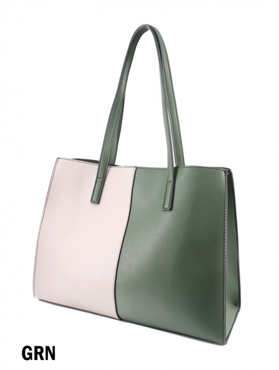 Two Tone Fashion Tote Bag