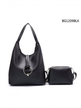 Premium Faux Leather Tote W/ Ring Medallion