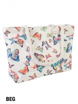 Canvas Butterfly Shoulder Tote