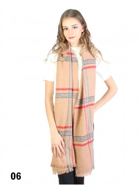 Soft-Touch Plaid Scarf