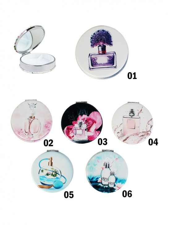Perfume Print Daily Pill Cases