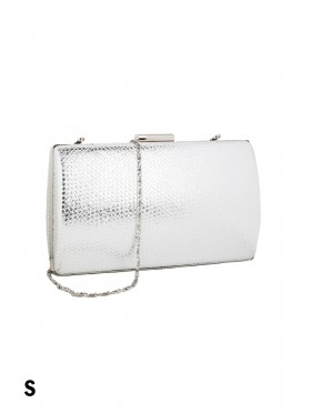 Sparkle Faux Leather Evening Clutch