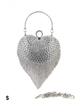 Rhinestone Heart Evening Clutch