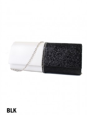 Sparkle Lurex Evening Clutch With Rhinestone