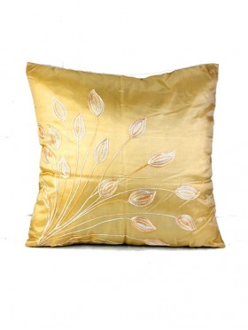 LEAF DESIGN CUSHION COVER & FILLER