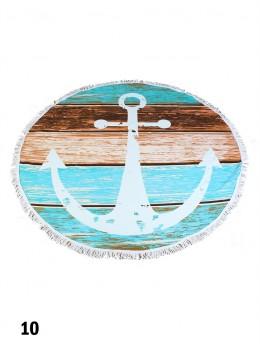 Anchor Mark Round Beach Towel