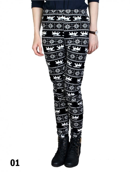 Velvet Moose Print Stretch Legging