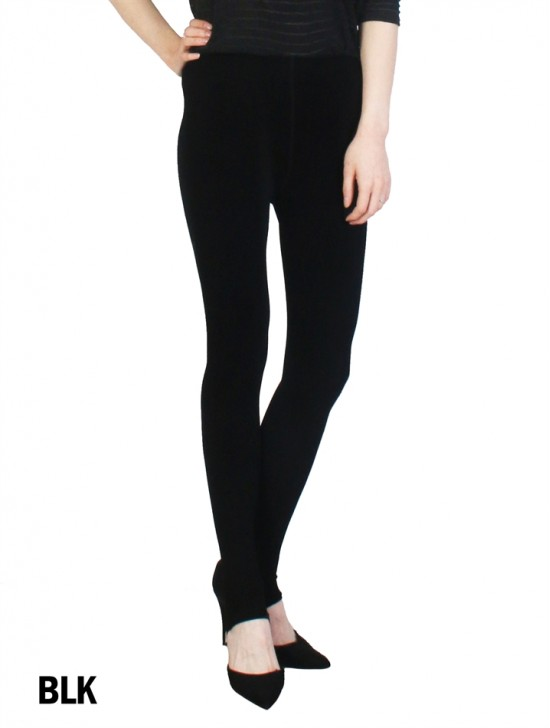 Full-Length Footed Smooth Stretch Leggings