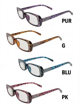 Rhinestone & Leopard Reading Glasses