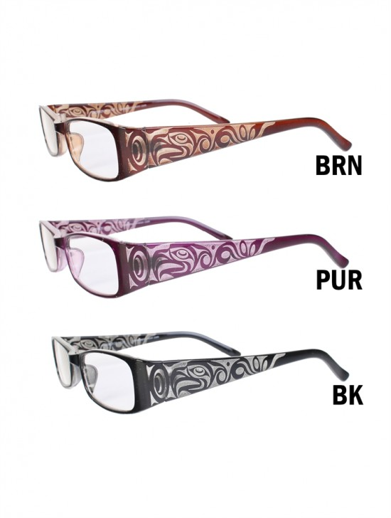 Floral Side Reading Glasses W/ Free Pouch