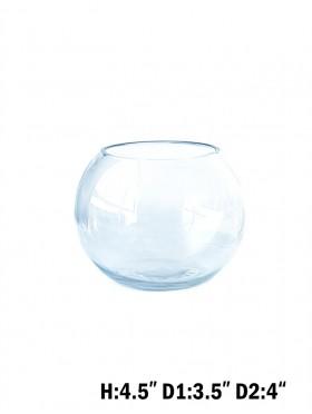 ROUND GLASS BOWL VASE