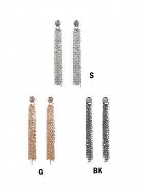 Rhinestone Multi-Strands Earrings