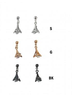 Rhinestone Eiffel Tower Drop Earrings