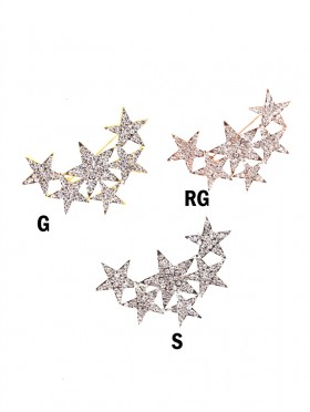 Rhinestone & Star Brooch Clip