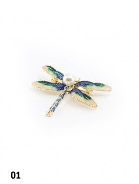 Dragonfly Brooch With Pearl