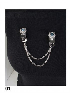 Clip On Gem Brooches
