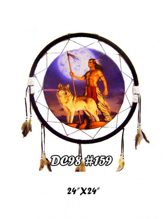 DREAM CATCHER HANGING FIXTURE FEATURING NATIVE ART