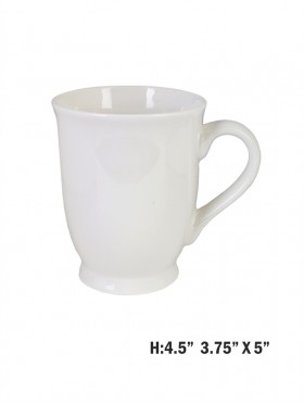 Personalizable Solid White Mug