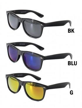 Unisex Basic Design Sunglasses W/ Colorful Lens