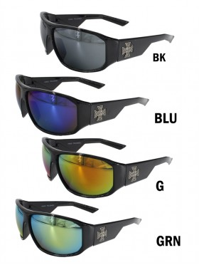 Sport Colorful Lens Sunglasses W/ Cross