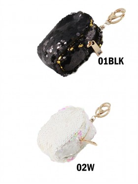 """Minimalism Sequin Scale """"Color Changing"""" Coin Purse"""