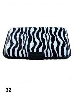 Zebra Print Credit Card Wallet