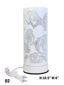 Rose Cut-out Cylinder Table Light
