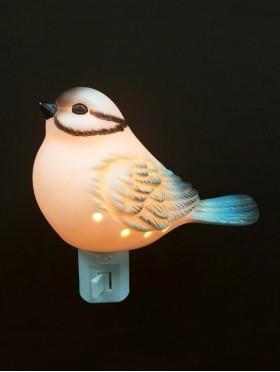 Porcelain Blue Bird Night Light