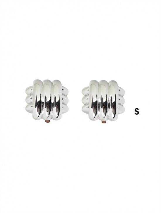 Crossover Stripes Clip-on Earrings