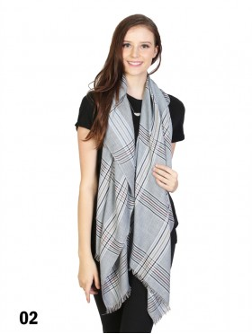 Shepherds Check Print Scarf