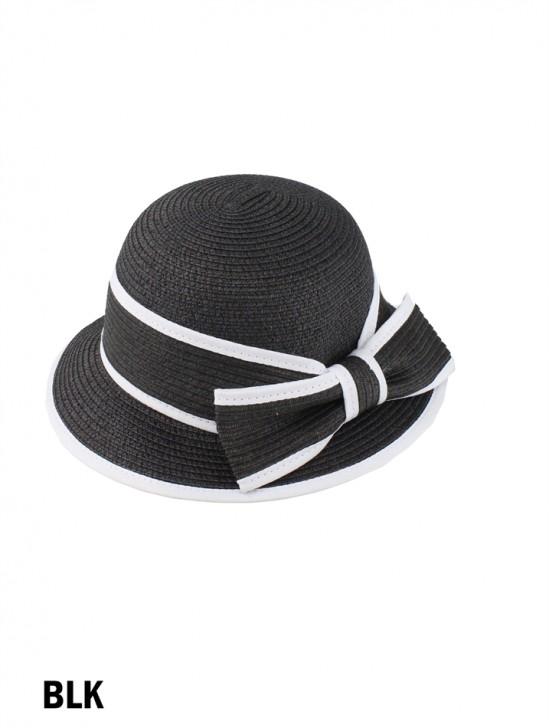 Summer Straw Hat W/ Bowknot