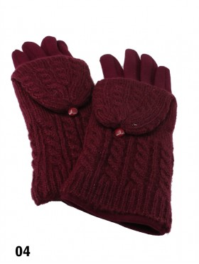 2 Layers W/ Cover Touch Screen Glove